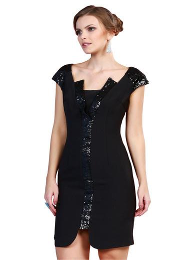 Pierre Cardin Kısa Abiye Elbise Siyah